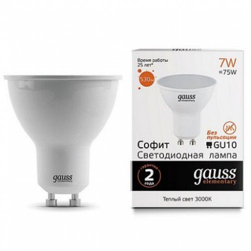 Лампа Gauss LED MR16 GU10 7W 3000K