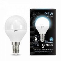 Лампа Gauss LED E14 9.5W 4100K матовая
